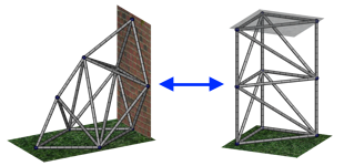 Variable Topology Truss