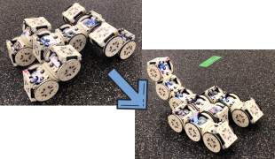 A Distributed Reconfiguration Planning for Modular Robots